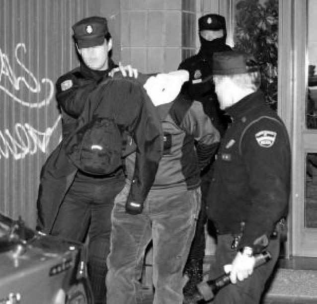 """Desarticulado en Vitoria un grupo de """"kale borroka"""" autor de una decena de ataques"""