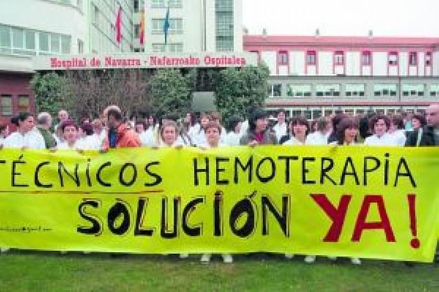 Protesta de los técnicos sanitarios del SNS