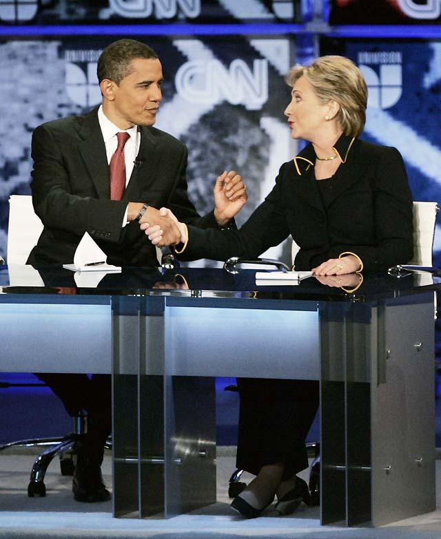Clinton y Obama discuten sobre Cuba en el debate previo a las primarias en Ohio y Texas