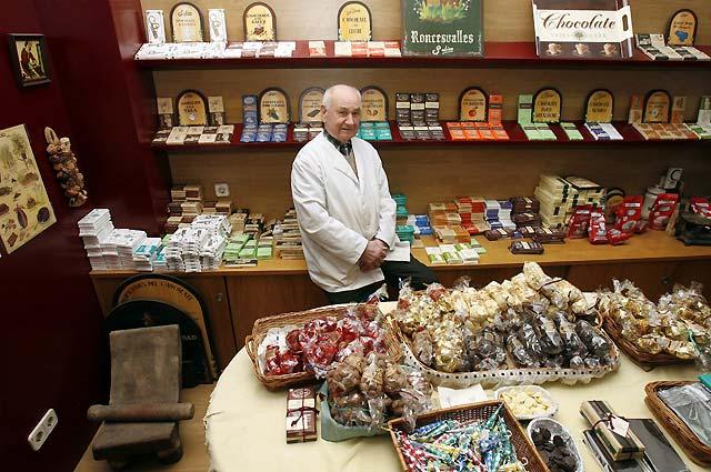 El navarro Jesús Subiza es el chocolatero en activo más antiguo de Europa
