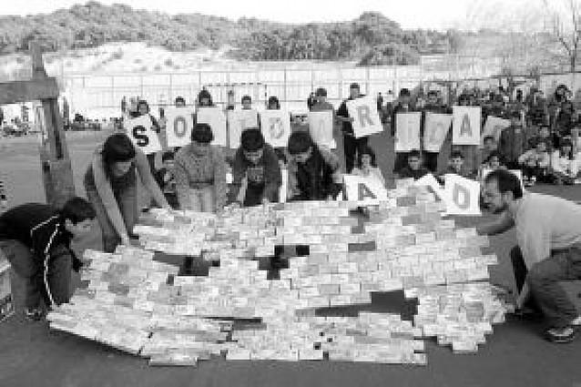 Escolares solidarios en Tafalla