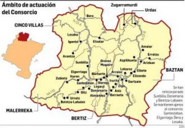 Donamaria, Sunbilla y Beintza-Labaien regresan al consorcio turístico de Bertiz