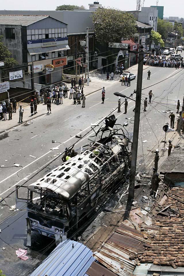 Al menos 18 heridos por una explosión en un autobús en la capital de Sri Lanka