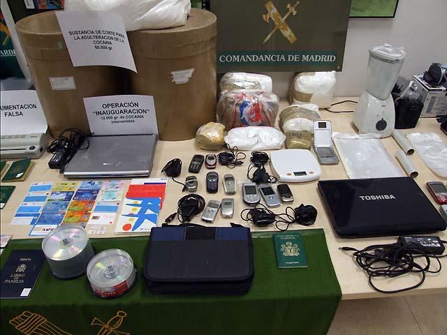 La Guardia Civil desmantela una red internacional dedicada al tráfico de drogas