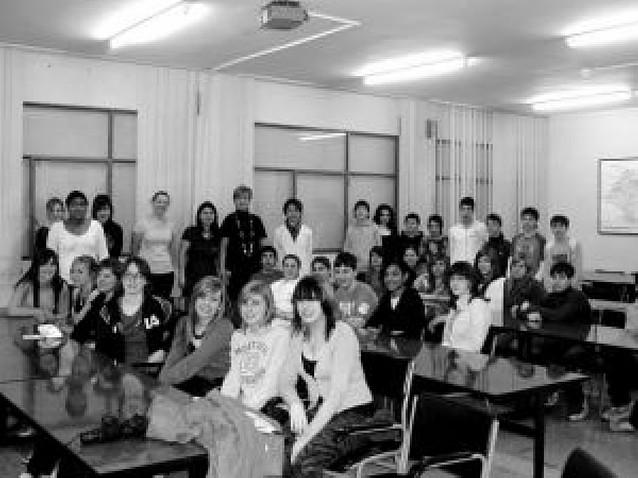 Alumnos ingleses en el Benjamín