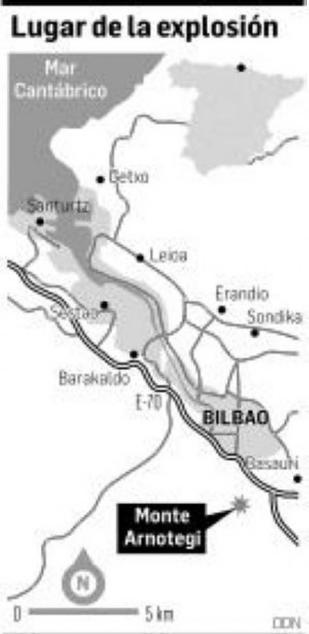 Estalla una bomba trampa de ETA en un repetidor en Bilbao sin causar heridos