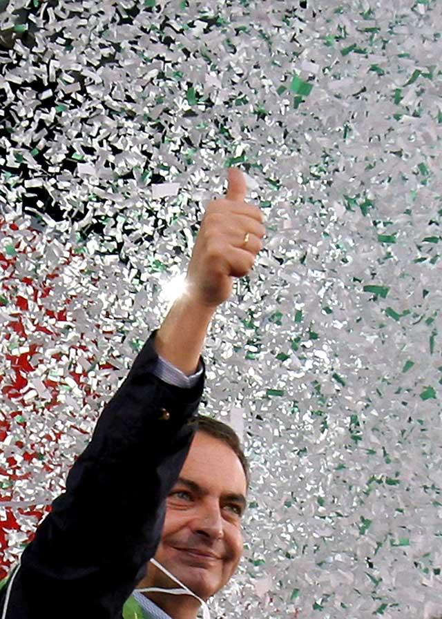"""Zapatero llama """"soberbio"""" al PP y dice que """"volverán al terrorismo"""" porque Pizarro les ha fallado"""