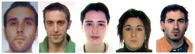 La Guardia Civil suma cinco nuevas identidades a su lista de terroristas más buscados