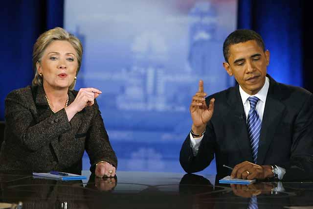 Obama y Clinton confrontan sus programas sociales en un nuevo debate televisado