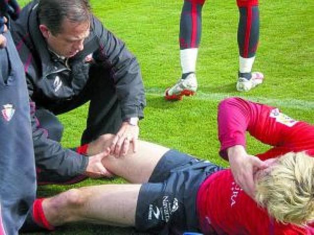 Margairaz se rompe la rodilla