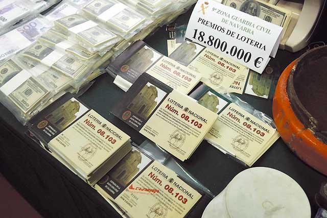 Lotería falsa para blanquear dinero