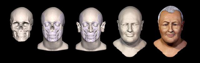 Los forenses reconstruyen digitalmente el rostro de Bach