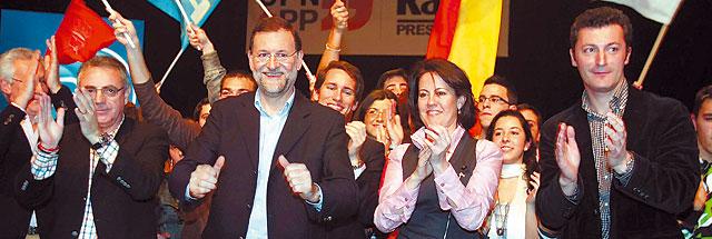 """Rajoy: """"La voz de Navarra sonará fuerte en el Congreso con tres diputados de UPN"""""""