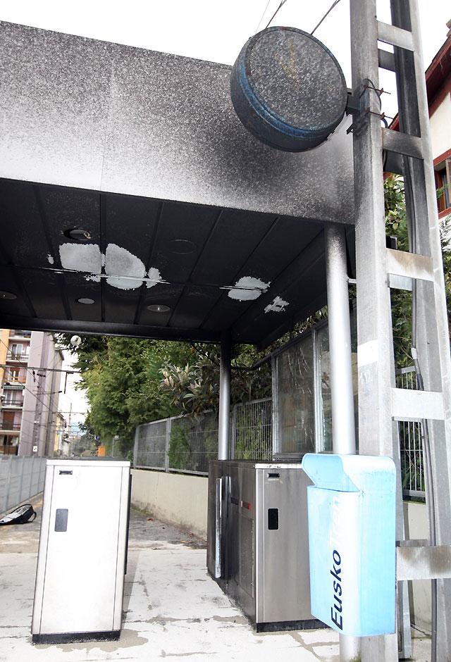 El ataque de kale borroka en la estación de Deusto ha ocasionado 60.000 euros en daños