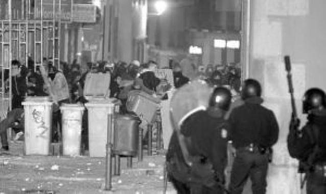 Los disturbios nocturnos en Madrid se saldaron con siete heridos y siete detenidos