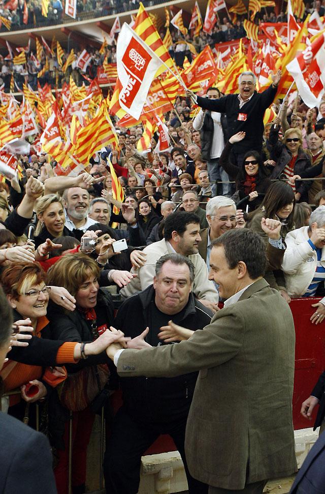 Zapatero asegura que Rajoy no tiene coraje para decir qué va a hacer con el trasvase del Ebro si gobierna