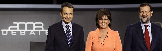 Transcripción íntegra del debate entre Zapatero y Rajoy