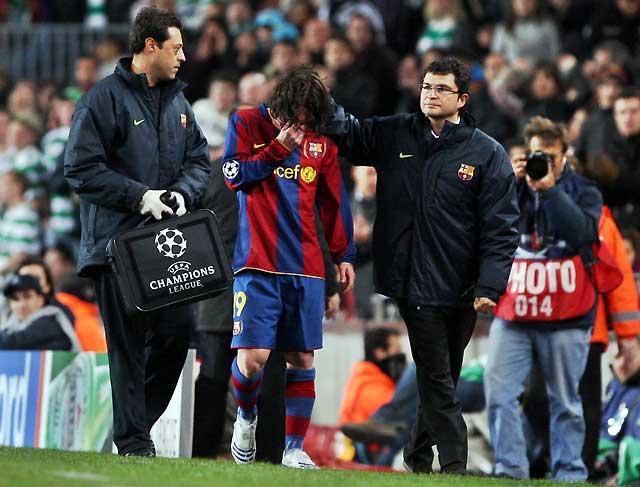 El Barcelona cumple el expediente pero pierde a Messi (1-0)