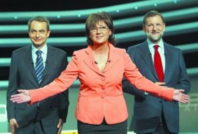 El segundo debate entre Zapatero y Rajoy pierde un millón de espectadores