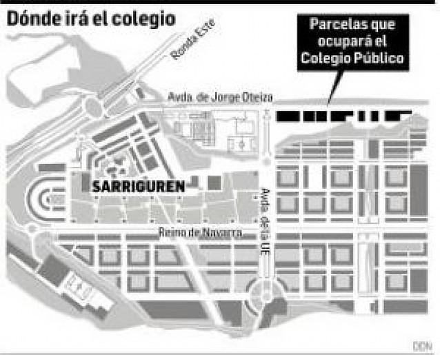 Adjudicadas por 3,7 millones las obras del colegio público de Sarriguren