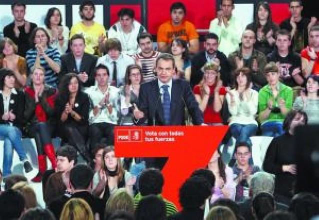 """Rodríguez Zapatero recupera el discurso del """"no a la guerra"""""""