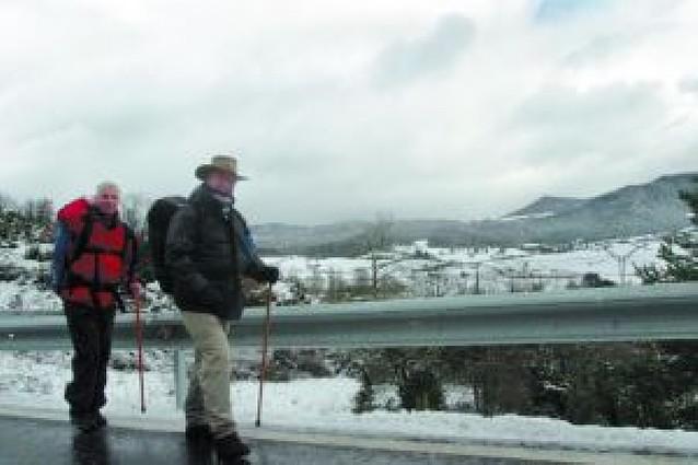 Nieve, granizo y viento en un día invernal