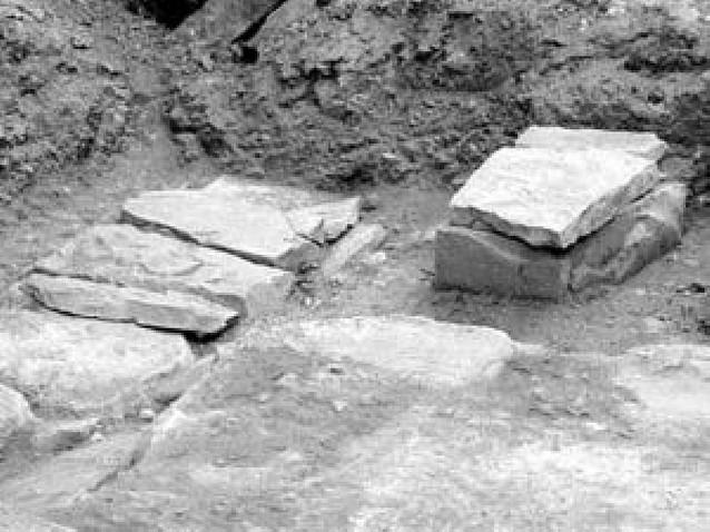Halladas dos tumbas medievales junto a Santa María de Olite