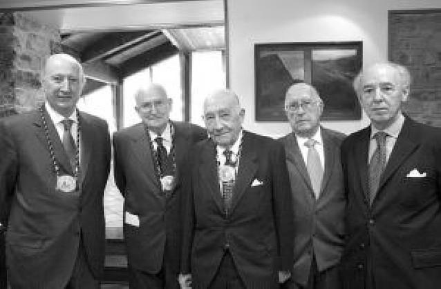 Homenaje a Víctor Manuel Sarobe de la Academia Vasca de Gastronomía