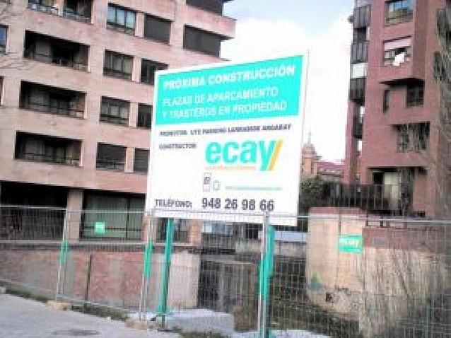 Las obras para construir un parking de 72 plazas en la calle Monjardín empezarán en otoño
