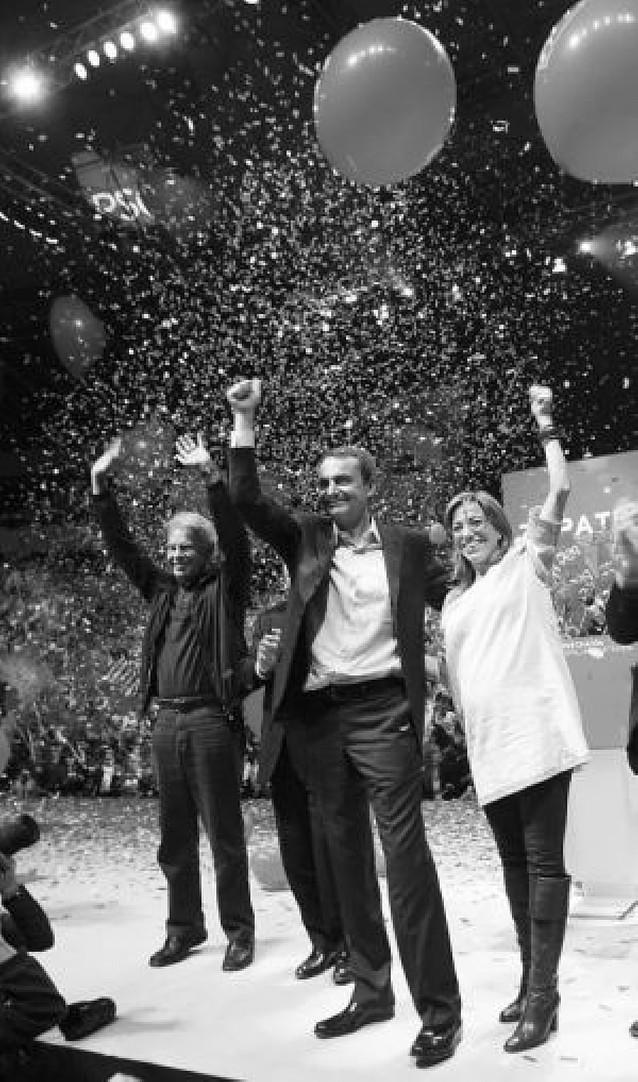 Zapatero acudió a Barcelona acompañado de González