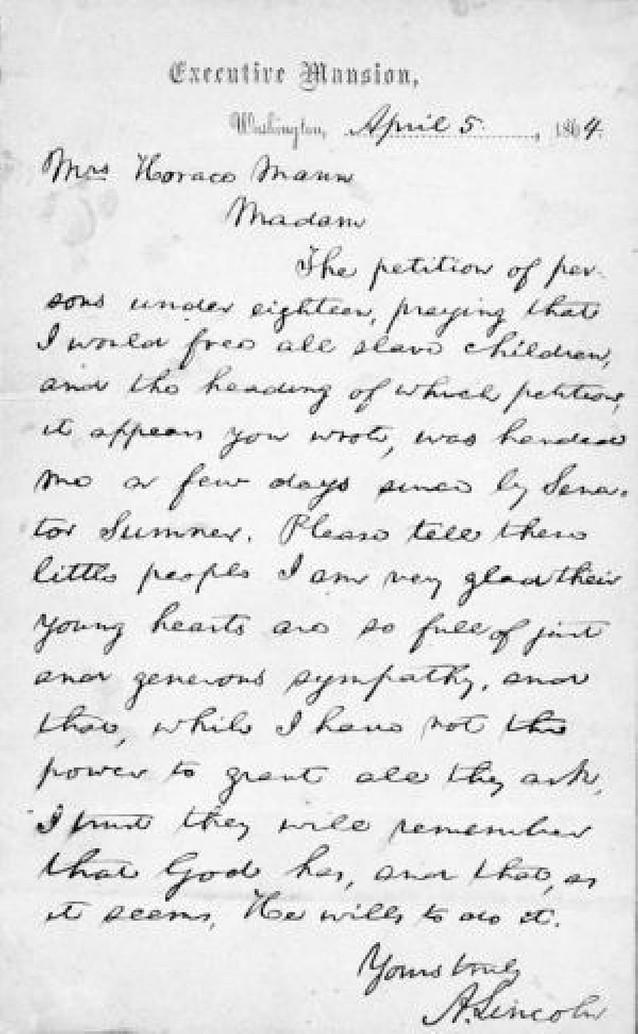"""Sotheby""""s subasta varias cartas del presidente Lincoln"""