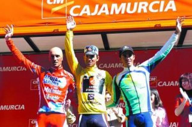 Valverde dedica la Vuelta a Murcia a sus hijos