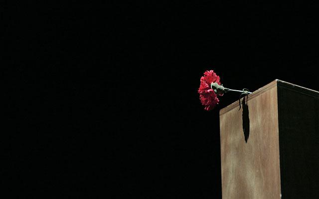 CCOO y UGT recuerdan, junto a Pilar Manjón, a las víctimas de los atentados