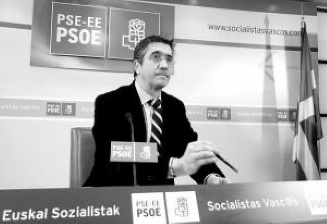 """El PSE no pactará con el PNV si se mantiene el """"plan Ibarretxe"""""""