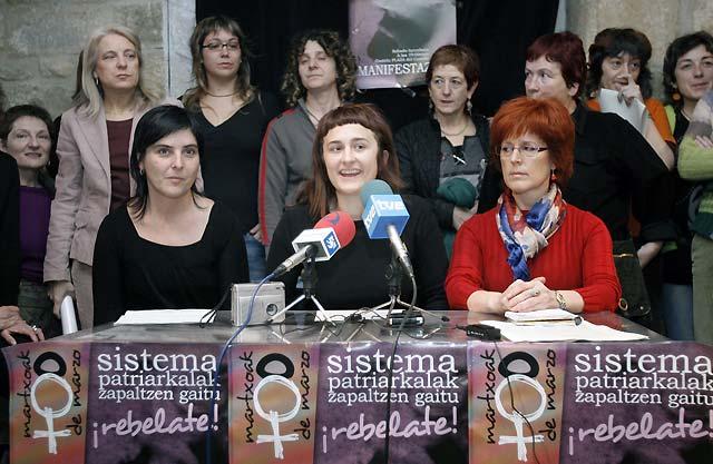 La Comisión Ocho de Marzo denuncia la prohibición de la manifestación del Día de la Mujer Trabajadora