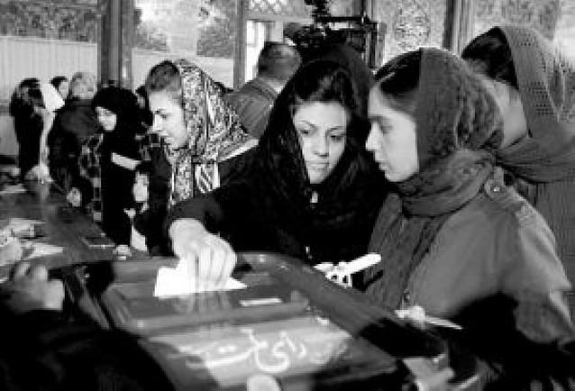 Los iraníes acudieron ayer a las urnas para elegir un nuevo Parlamento