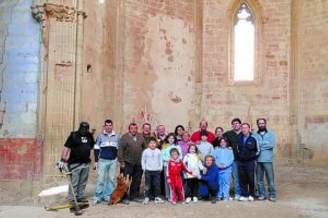 Amigos de El Cristo de Caparroso inician la recuperación de la antigua iglesia