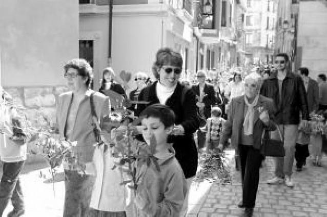 Cientos de tudelanos en la procesión de Ramos