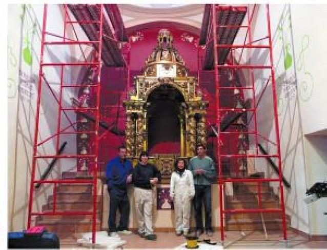 Viana restaura el templete barroco que guarda a la Virgen de Cuevas en su ermita