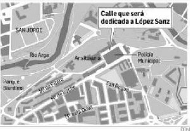 Una calle para Jesús Mª López Sanz