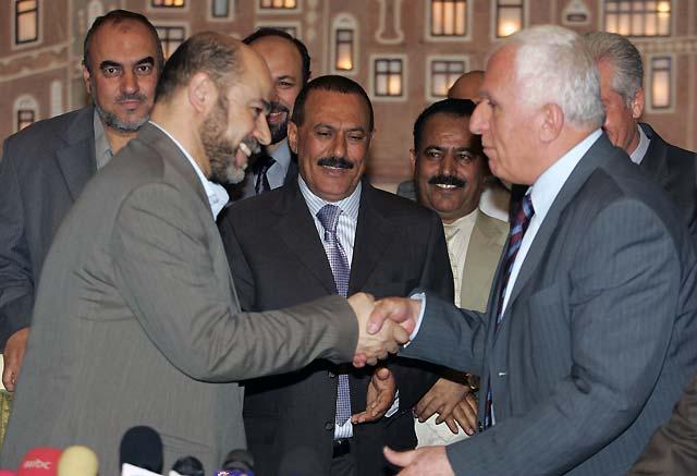Hamás y Fatah alcanzan un acuerdo apadrinado por el presidente yemení