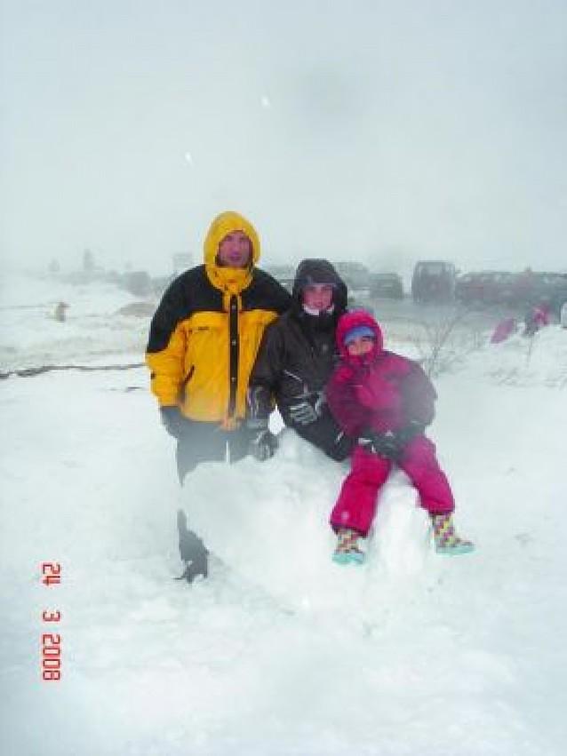 Del medio metro, al agua nieve