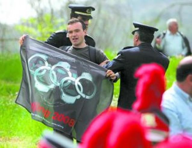 La antorcha sale de Olimpia con protestas por el Tibet