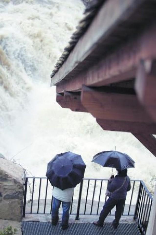 En cuatro días ha llovido en Pamplona más que en los últimos dos meses