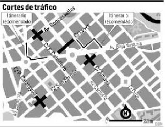 Cortes de calles durante cuatro semanas en el II Ensanche