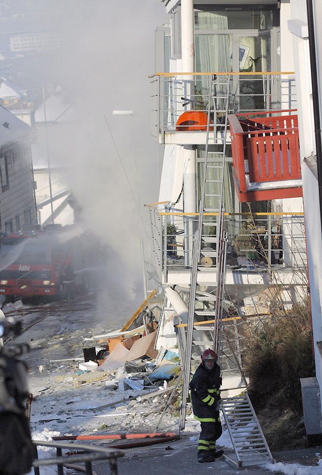 El derrumbe de un edificio en Noruega obliga a evacuar a la población en un radio de 200 metros