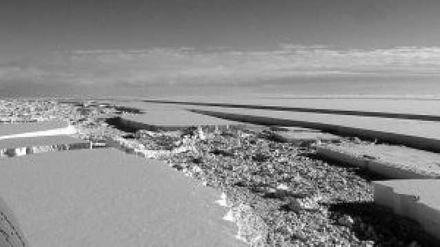 La Antártida pierde una gran masa de hielo