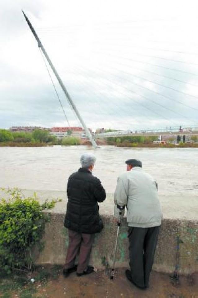 La crecida del Ebro no afectará a los plazos de la Expo