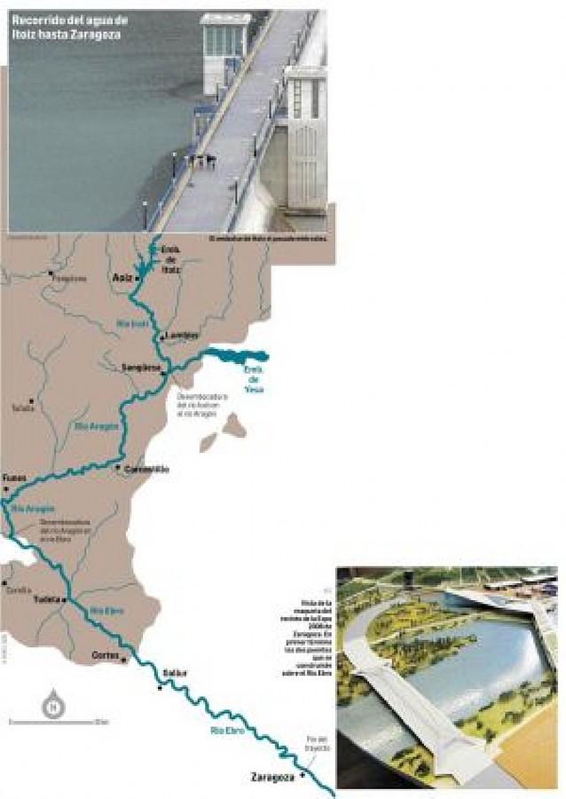 Itoiz dará agua durante todo el verano a la Expo de Zaragoza