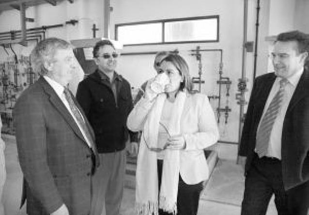 El Gobierno afirma que la nueva potabilizadora de Cortes asegura la calidad del agua de boca